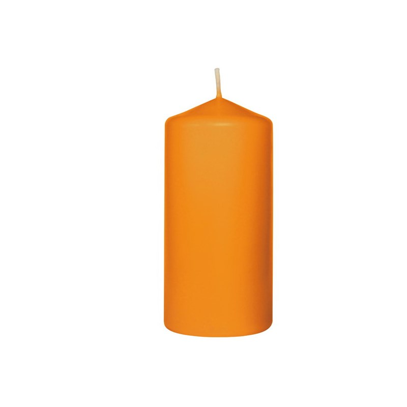 Bougie cylindrique orange ø50 x 105 mm - 20h