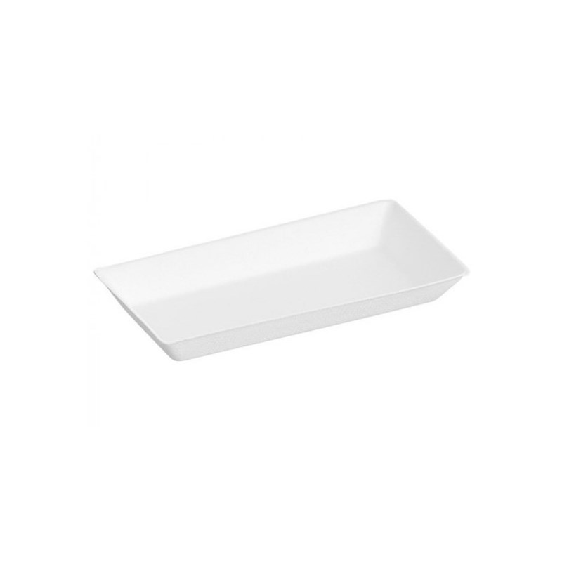 Assiette rectangulaire pulpe de canne Cubik Fibra 180 x 130 x 15 mm