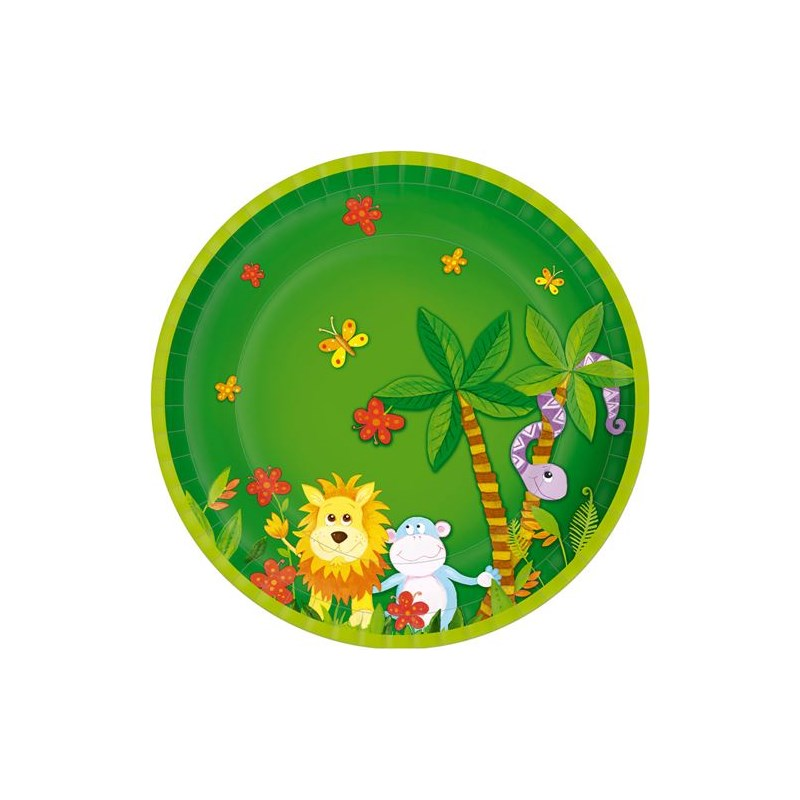 Assiette carton ronde Jungle Friends ø22 cm