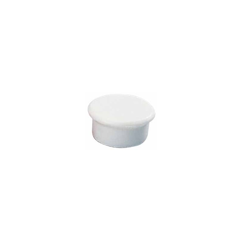 Aimant rond 13 mm blanc