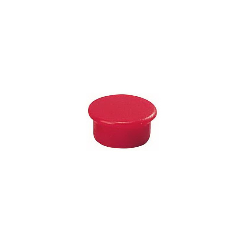 Aimant rond 13 mm rouge